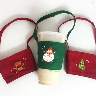 Christmas Series - Eco-friendly beverage bags buy three at a time (can draw Chinese and English names please note)