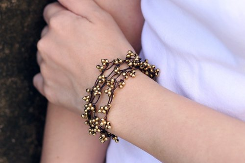 Nature Form Hippy Bracelets Knot Simple Brass