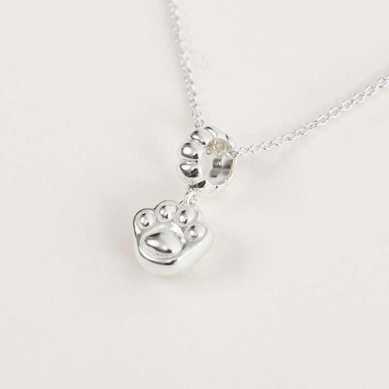 Play cats give me five cats silver necklace