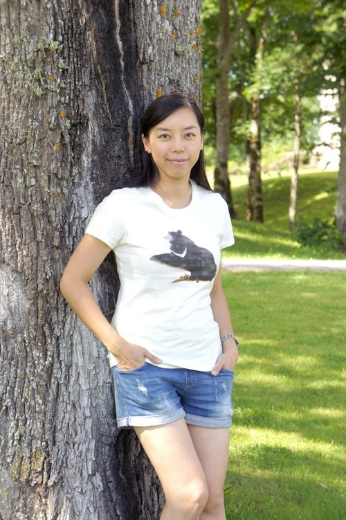 Taiwan Black Bear & Yushan hanging hook T-shirt (girls)