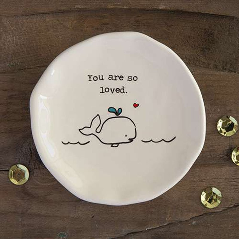 Ceramic small round dish-You are so loved∣PDSH062