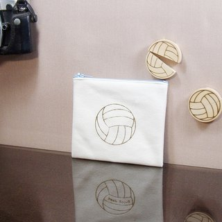 Volleyball canvas branded wallet solid wood branded headset clip clip exclusive text custom