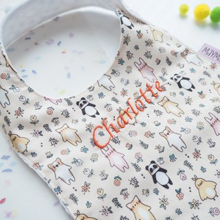 Yellow Animals Handmade Bib Box Set
