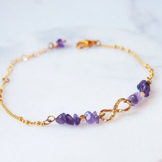 Anniewhere | Everlasting | Amethyst Camellia / Infinity Bracelet