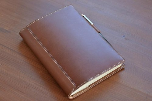 B6 size notebook cover with penholder