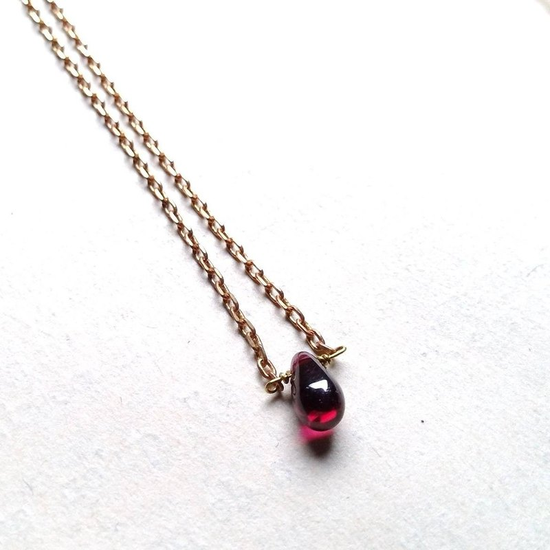 Garnet, Red copper Necklace