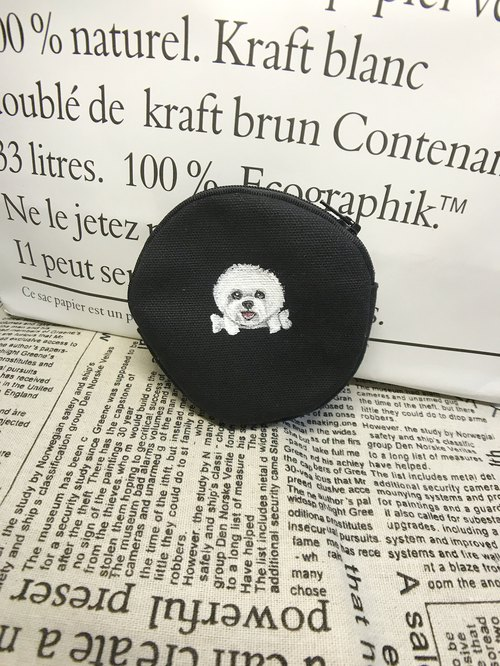 Hand-painted round coin purse