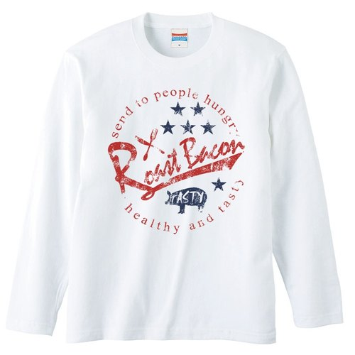 [Long sleeve T-shirt] Roast Bacons (STAR)