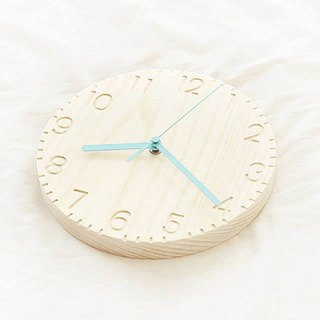 Colorful Wood Clock | Minimalist Handmade Clock – Wall Clock