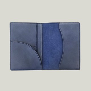 [New] Mojito Mosido leather passport holder / passport holder - blue gray