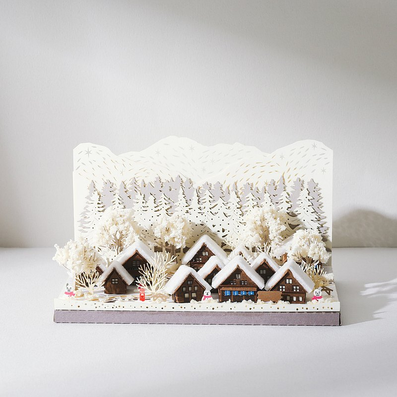 【Jeantopia】紙雕工藝  DIY材料包 冬季合掌村 | 9025153
