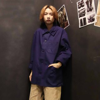 Tsubasa.Y Antique House A09 Work Shirt, Work Shirt Blue Collar Blue Jacket
