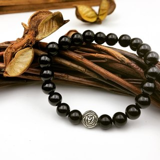 Black Rose Black Onyx natural stone bracelet