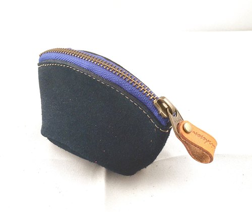 888NV coin purse Coin case Tochigi leather suede accessory porch accessory zipper Coin Purse Coin Case Tochigi Leather Suede Accessory Pouch Accessory Fastener Package / Banknote / Sawaki dermis / Squirrel / Advertisement / Bag / Municipal Box / Liaison