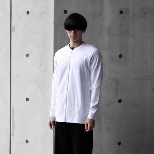 [] THE SEAMAN white round neck jacket baseball