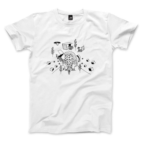 Vomiting man - white - Unisex T-Shirt