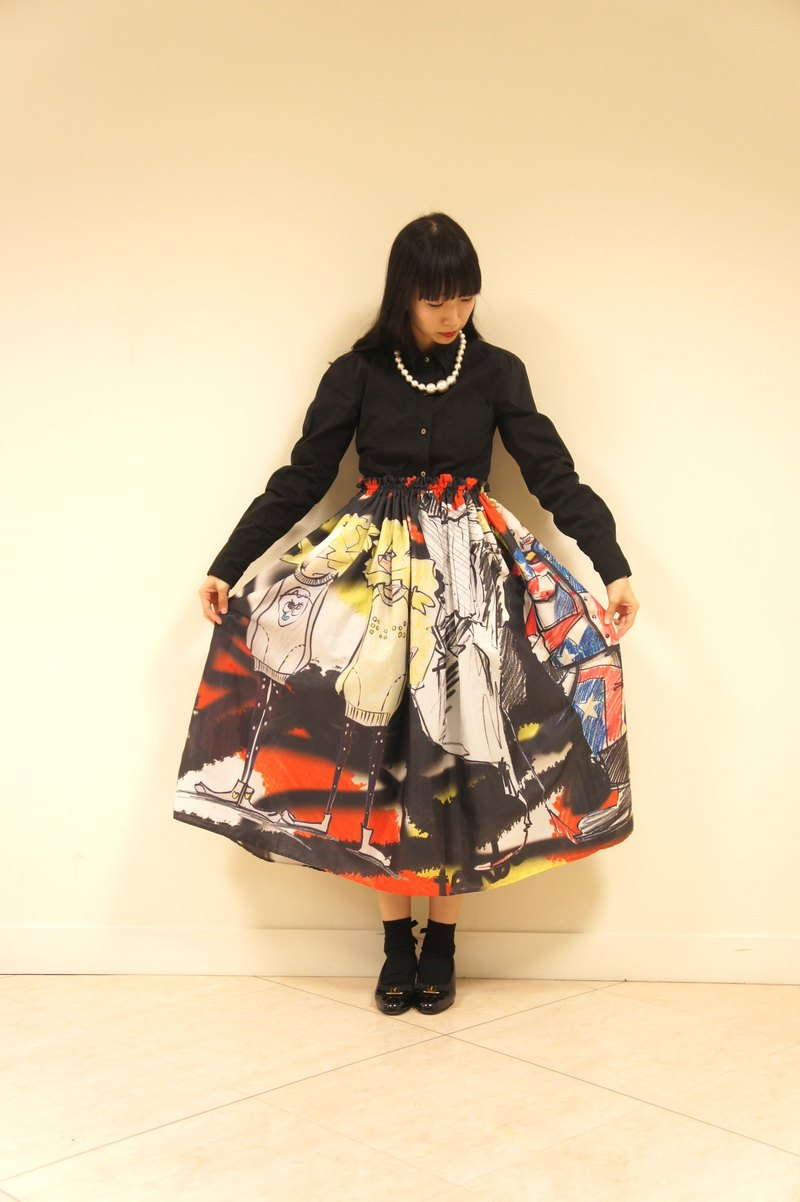 fashion scktch print skirt