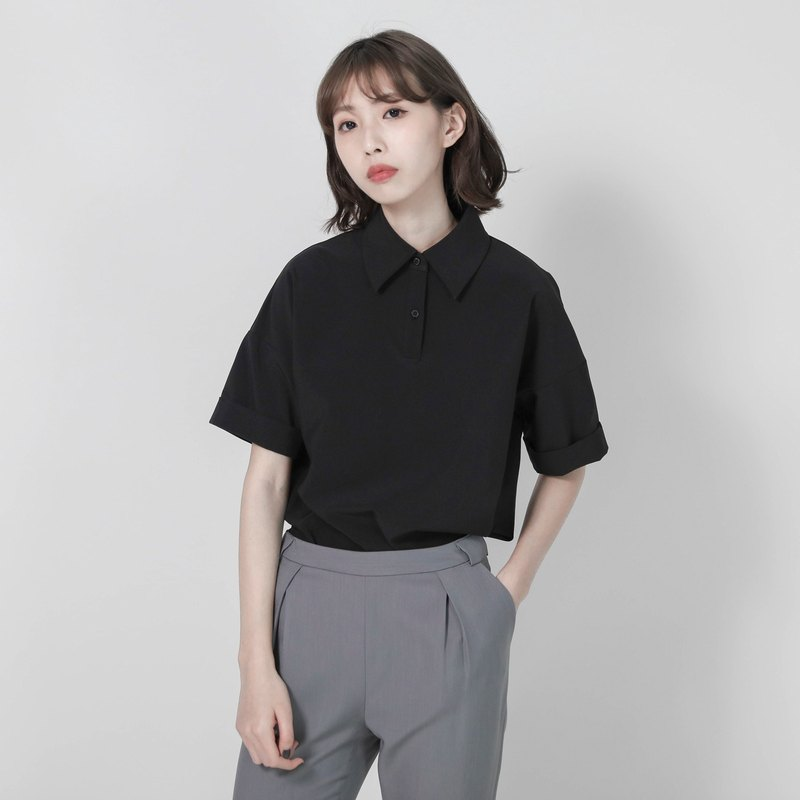 Lightspot Drop Shoulder Shirt_7SF104_Black