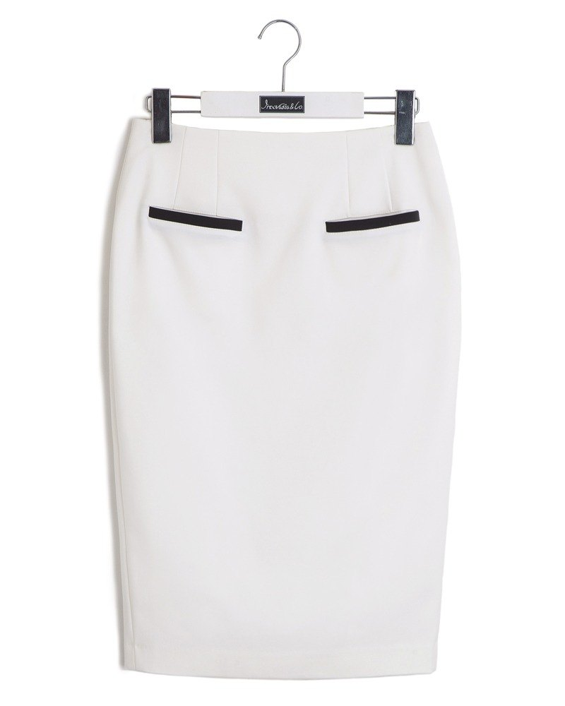 Fitted knee skirt temperament elegant-fitting pencil skirt