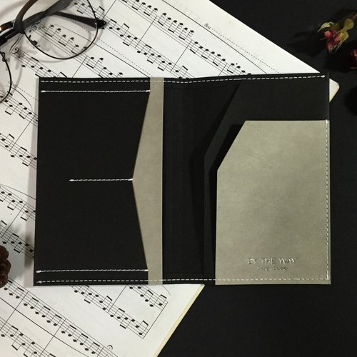 Passport – washable kraft paper  black and gray