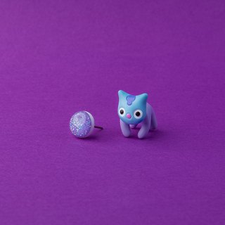 Mang BTS Cat - Polymer Clay Earrings, Handmade&Handpaited Catlover Gift