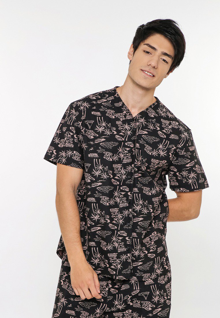 baseball Hawaii shirt cotton