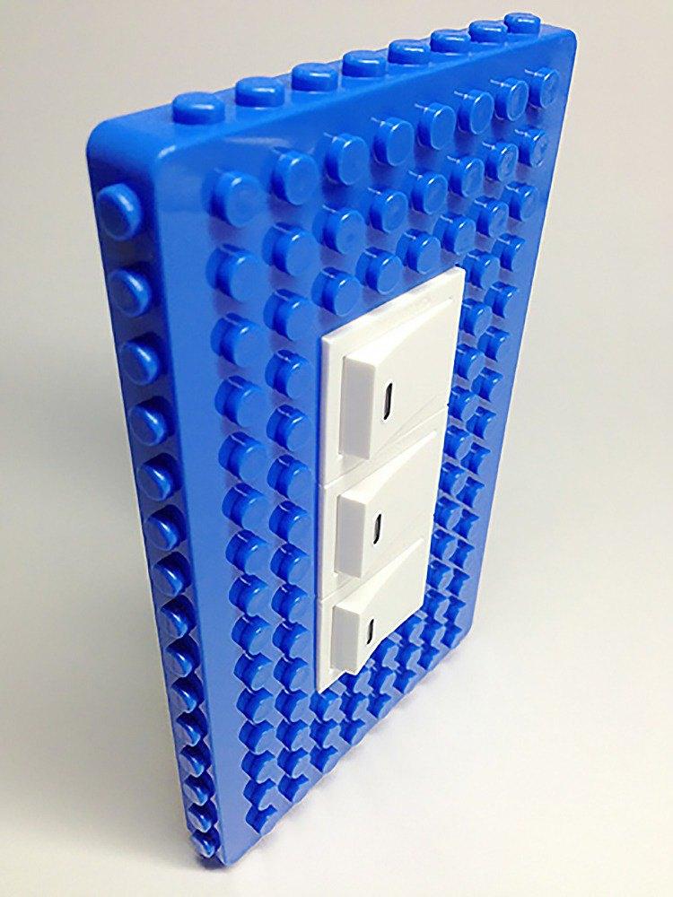 Qubefun block hook power cover + 3 into the block hook (Starry Night Blue) # compatible LEGO # cute gift
