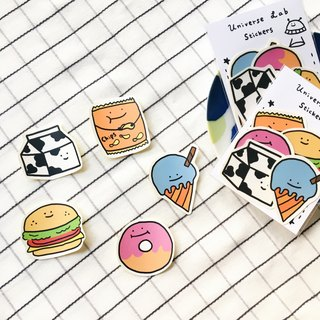 Delicious and tasty sticker pack / 5 in
