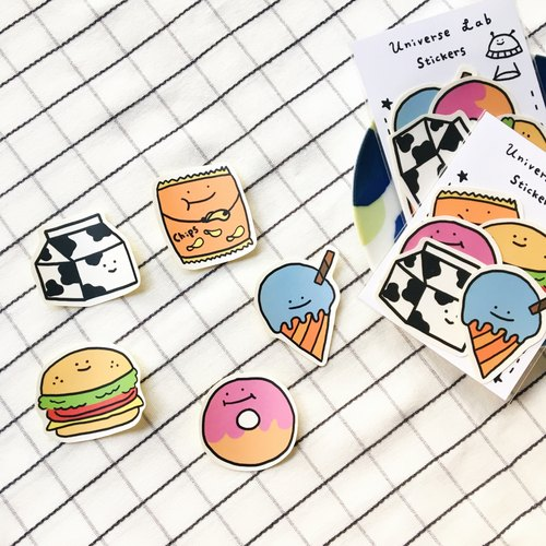 Delicious delicious sticker pack / 5 into