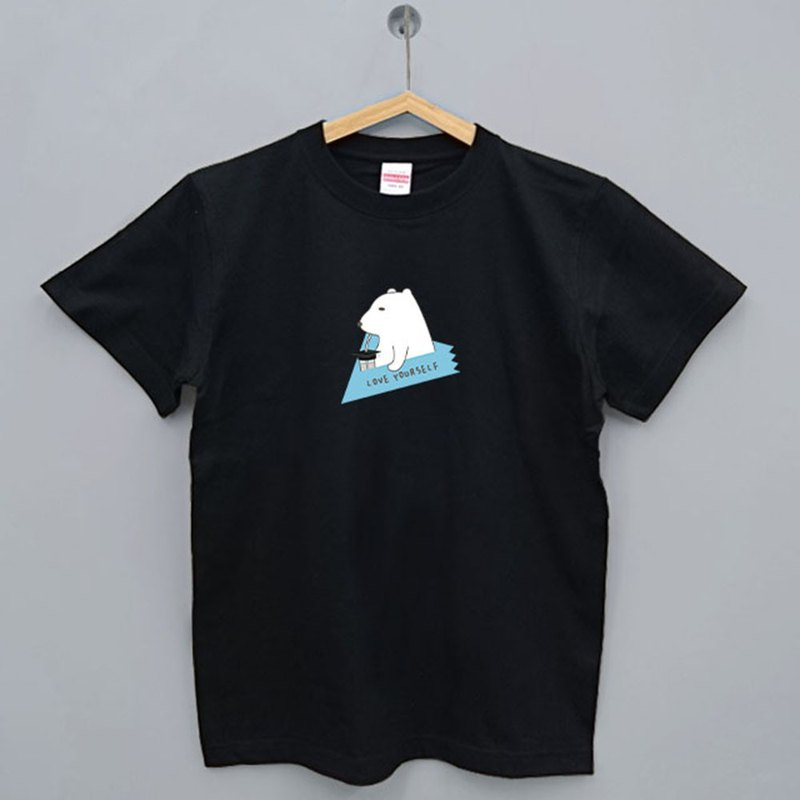 Graduation gift custom-made text thirsty bear series Japan UA short-sleeved T-shirt (black / white / gray)