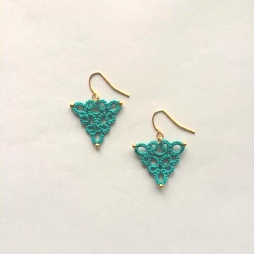 Triangle / Turquoise metal