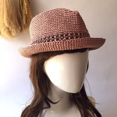 Fly hand-made knit cap / paper Rafi straw hat / cap gentleman〗 〖hopscotch crazy hand-made