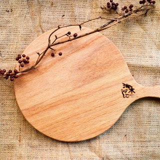 PIZZA plate chopping board │ wobble plate, light food │ oak