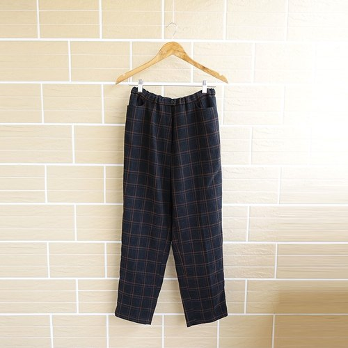 │Slowly │ simple checkered - ancient pants │ vintage. Retro