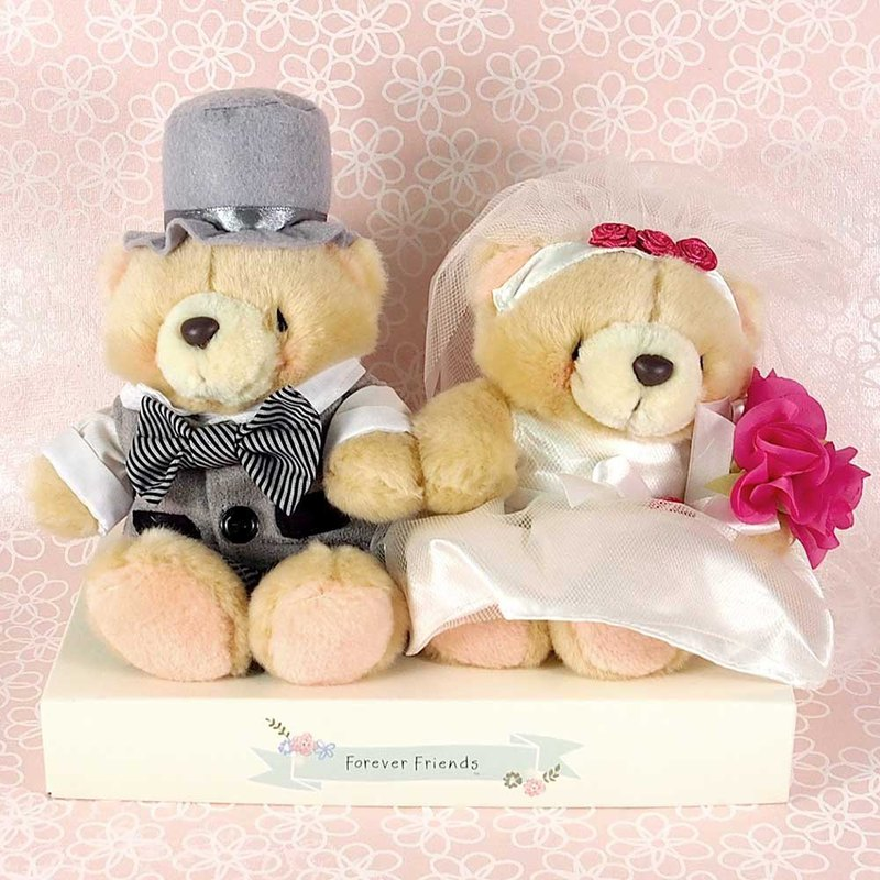 4.5 吋/English Marriage Pairs Plush Bears [Hallmark-ForeverFriends-Marriage Series]
