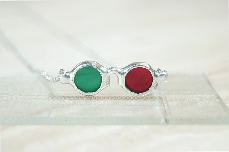 Red-green anaglyph glasses-Necklaces(size:mini)