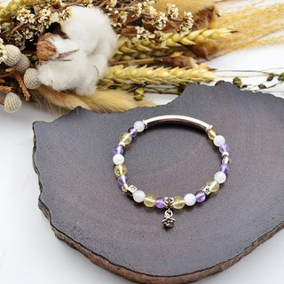 Feast | Citrine - Moonstone - Purple Jade | 925 Sterling Silver Bracelet