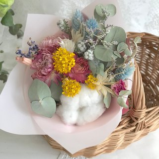 Masako cotton straw cornflower lavender small bouquet dry bouquet wedding small things birthday gift