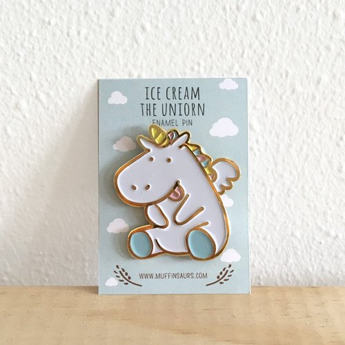 Ice Cream the Unicorn Enamel Pin
