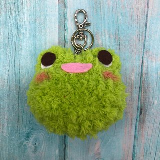 Frog - chubby wool animal key ring charm