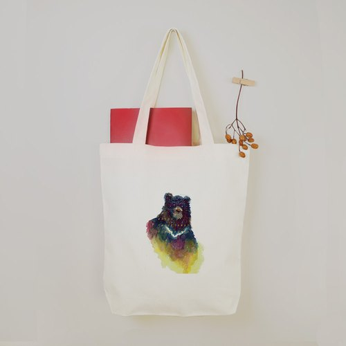 [I love Taiwan] Taiwan black bear canvas tote bag