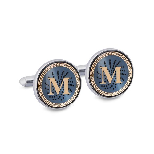 "Monogram ""M"" Cufflinks with Lacquer Finish"