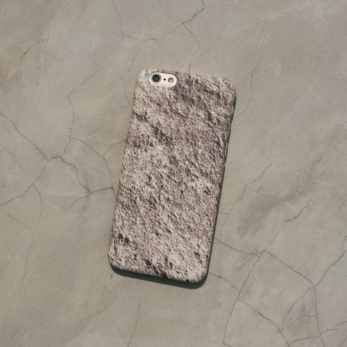 Original frosted rock Phone case (iPhone model) with Basalt pattern and hard shell back case