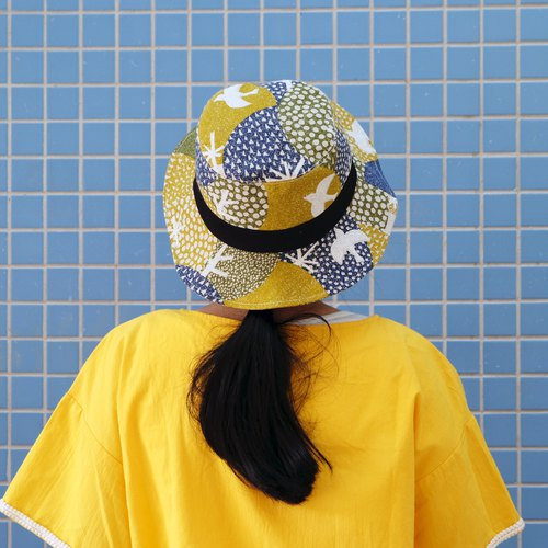 Japanese fabric fly fly handmade fisherman hat