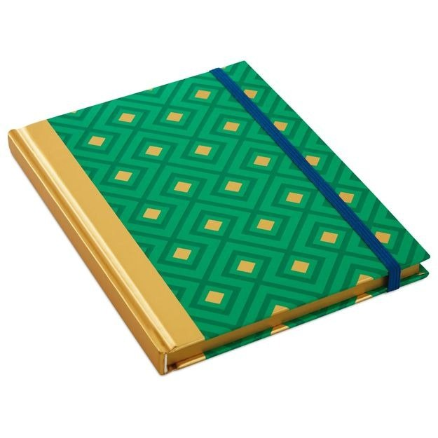 Emerald-tie with hard shell notebook