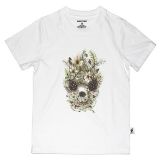 British Fashion Brand [Baker Street] Hazelnut Skull Printed T-shirt for Kids
