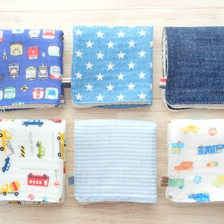Baby Wash Cloths, Set of 6, Boy, Handkerchief, Washcloth, Kids Reusable Wipes