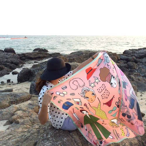 Cyrano Scarf - peach LOOKBOOK