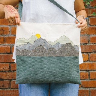 Nantou Tea Garden and Mountain Sunrise - Side Shoulder Bags