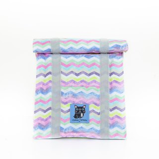 Wavy color marble texture cold insulation bag